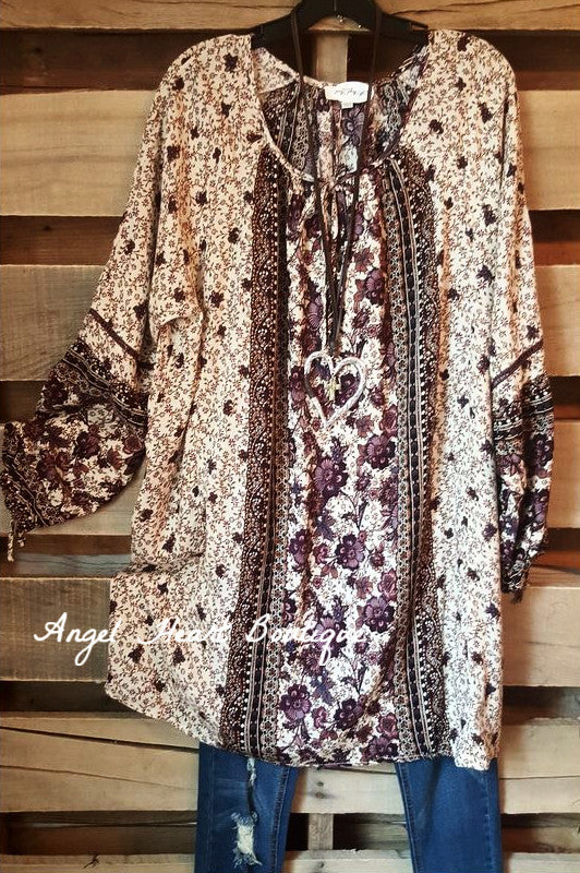 Love Notes Tunic - Purple Mix - Umgee - Dress - Angel Heart Boutique  - 2