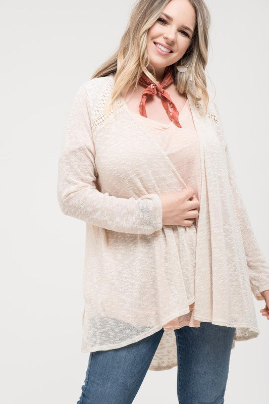 Ready For Any Occasion Cardigan - Natural [product type] - Angel Heart Boutique