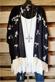 Amuse Me Kimono - Black -DOORBUSTER [product type] - Angel Heart Boutique