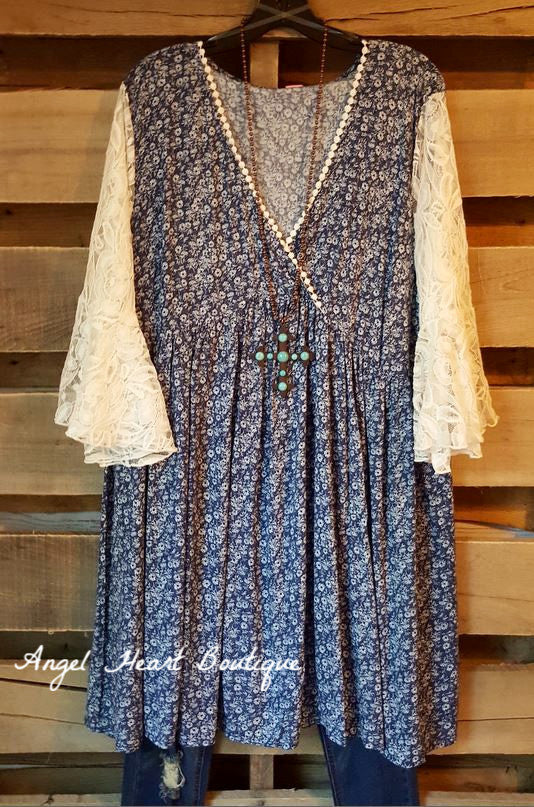 Casual Type Dress - Blue - Angel Heart Boutique - Dress - Angel Heart Boutique  - 2