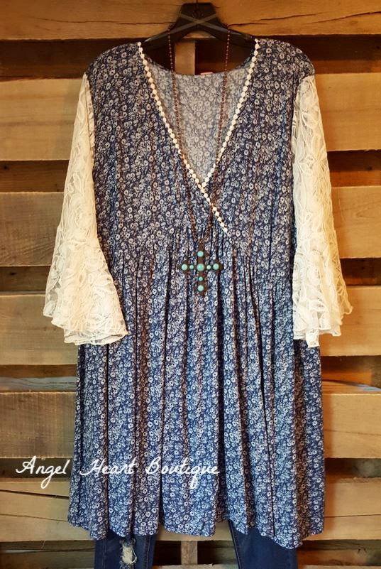 Casual Type Dress - Blue - Angel Heart Boutique - Dress - Angel Heart Boutique  - 3