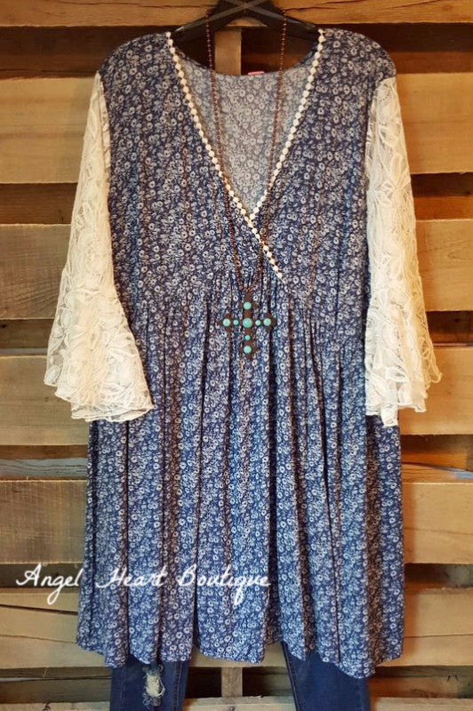 Casual Type Dress - Blue - Angel Heart Boutique - Dress - Angel Heart Boutique  - 1