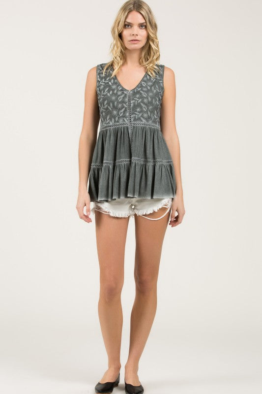 My Gypsy Soul Top - Charcoal - SALE