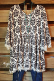French Elegance Tunic - White - Sassybling - Tunic - Angel Heart Boutique  - 1