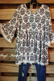 French Elegance Tunic - White - Sassybling - Tunic - Angel Heart Boutique  - 2