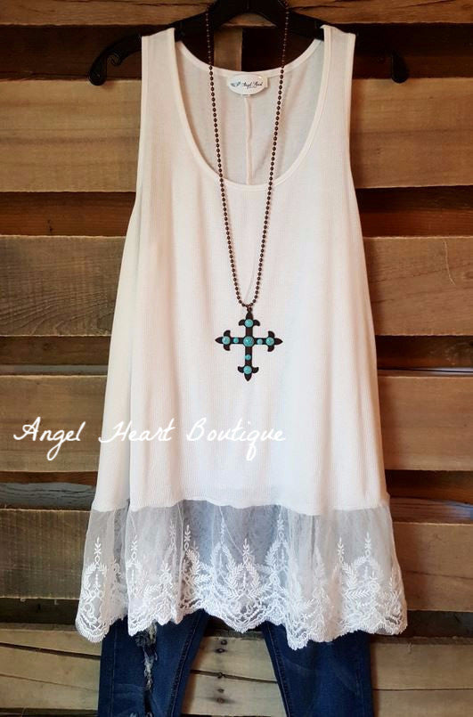 The Perfect Tank - Off White - Umgee - Top - Angel Heart Boutique  - 2