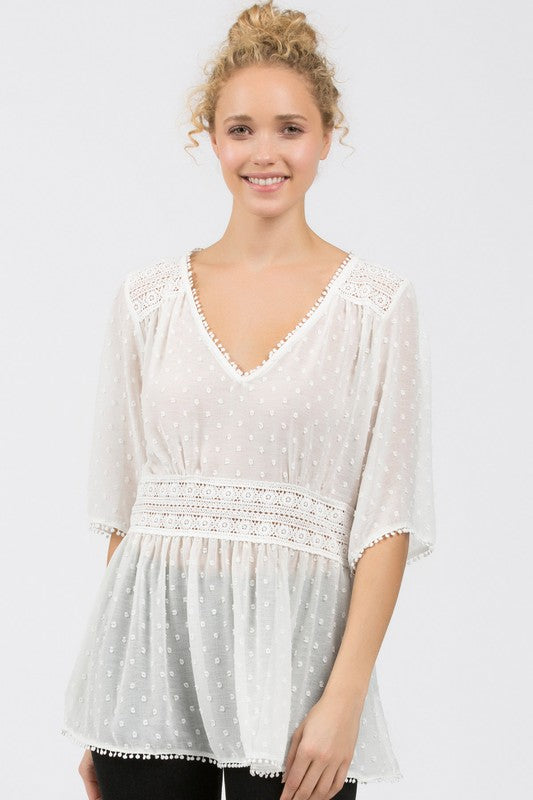 Summer Wonderland Top - Ivory