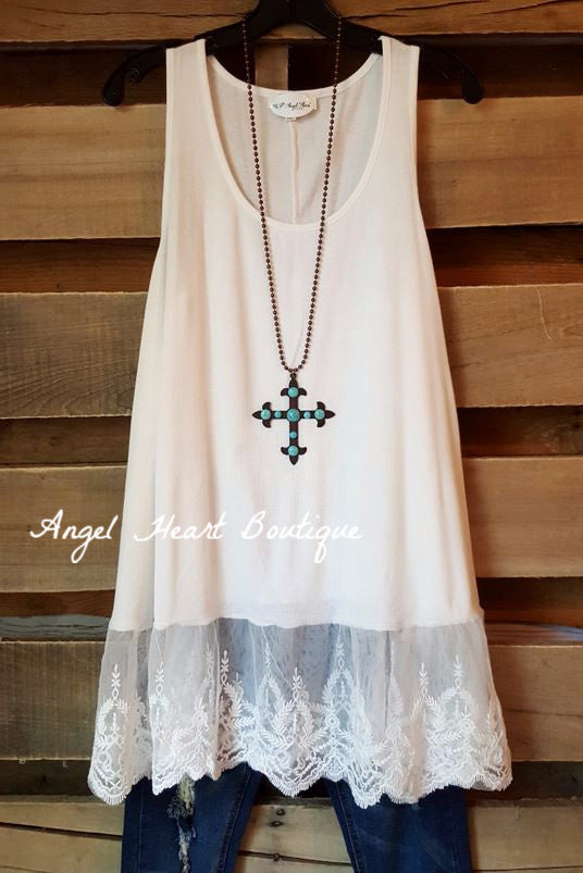 The Perfect Tank - Off White - Umgee - Top - Angel Heart Boutique  - 3
