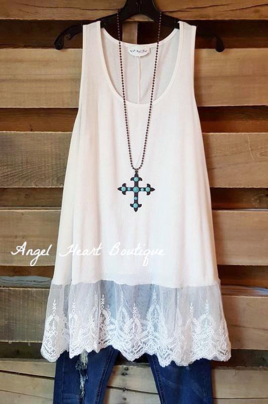 The Perfect Tank - Off White - Umgee - Top - Angel Heart Boutique  - 1