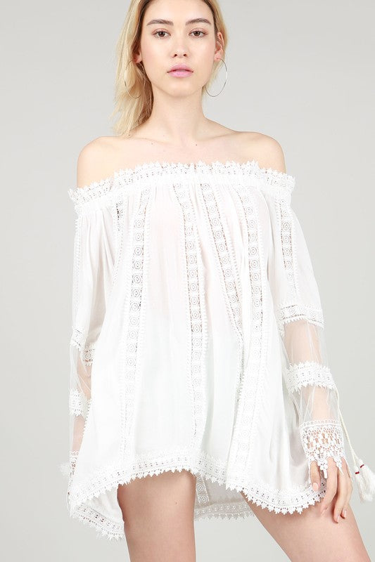 My Whole Heart Lace Top - Ivory