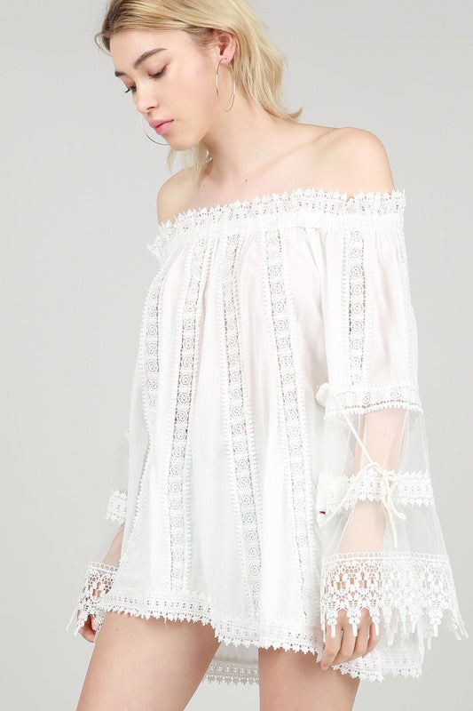 My Whole Heart Lace Top - Ivory - SALE