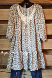 Spirit of Love Tunic - Cream - Umgee - Top - Angel Heart Boutique  - 2