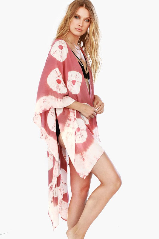 Intentions of The Soul Oversized Kimono - Dusty Pink