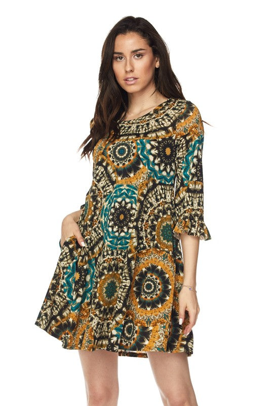 She's Got it All Tunic - Mustard [product type] - Angel Heart Boutique