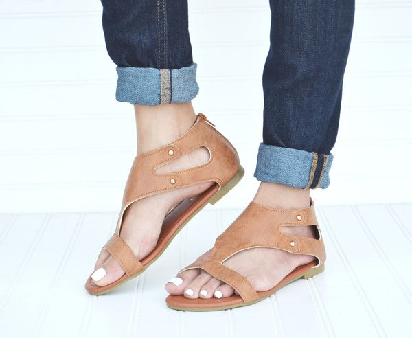 Gladiator Sandals - Tan [product type] - Angel Heart Boutique