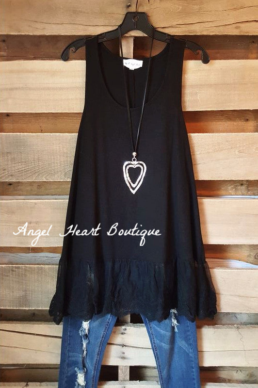 The Perfect Tank - Black - - Umgee - Top - Angel Heart Boutique  - 1
