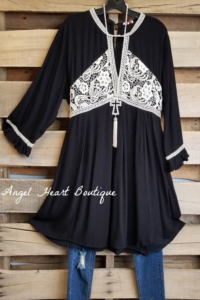 All You Can See Dress - Black [product type] - Angel Heart Boutique
