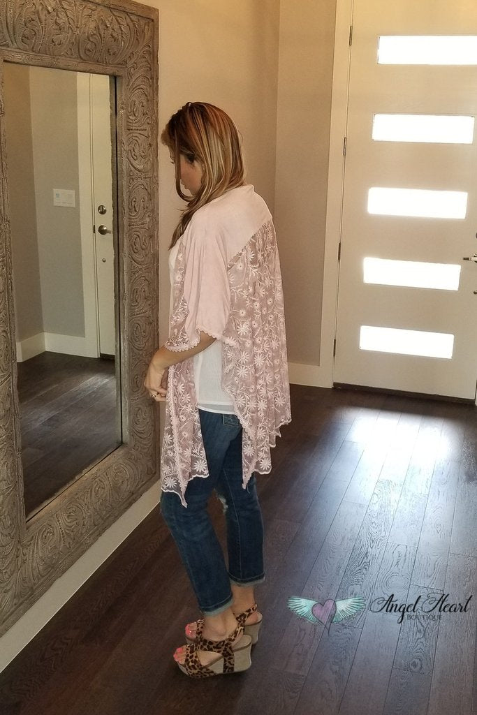 Life Is Easy Poncho Top- Pink [product type] - Angel Heart Boutique