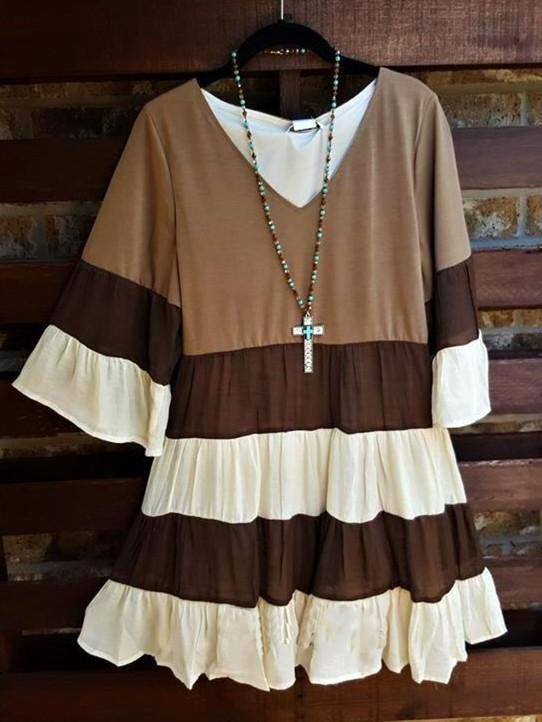 Love at first Sight Dress Brown