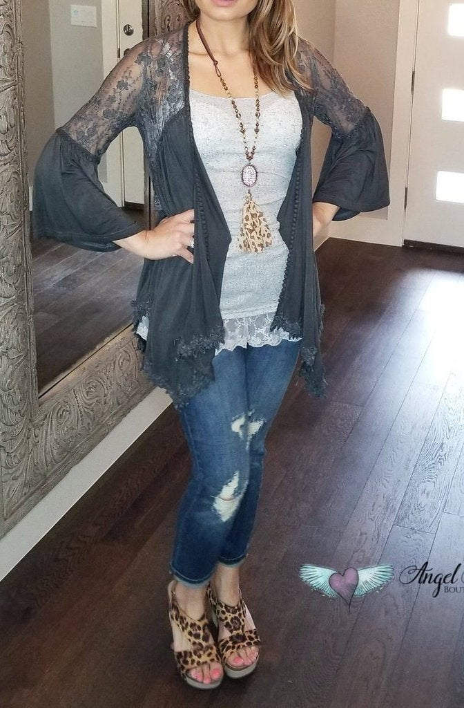 Can't Let You Go Cardigan- Black [product type] - Angel Heart Boutique