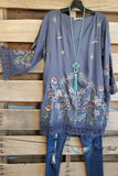 My Southern Side Tunic - Grey [product type] - Angel Heart Boutique