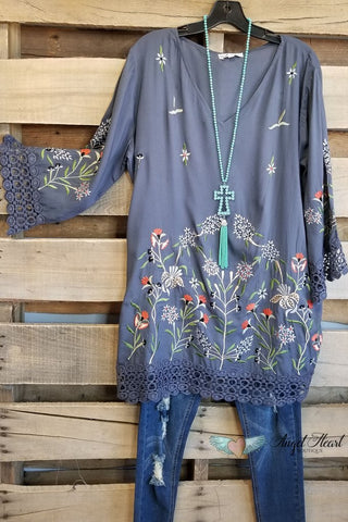 Friendly Front Porch Tunic - Hunter Green