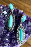 AUTHENTIC TURQUOISE STONE: Darling Dangle Earrings - Turquoise