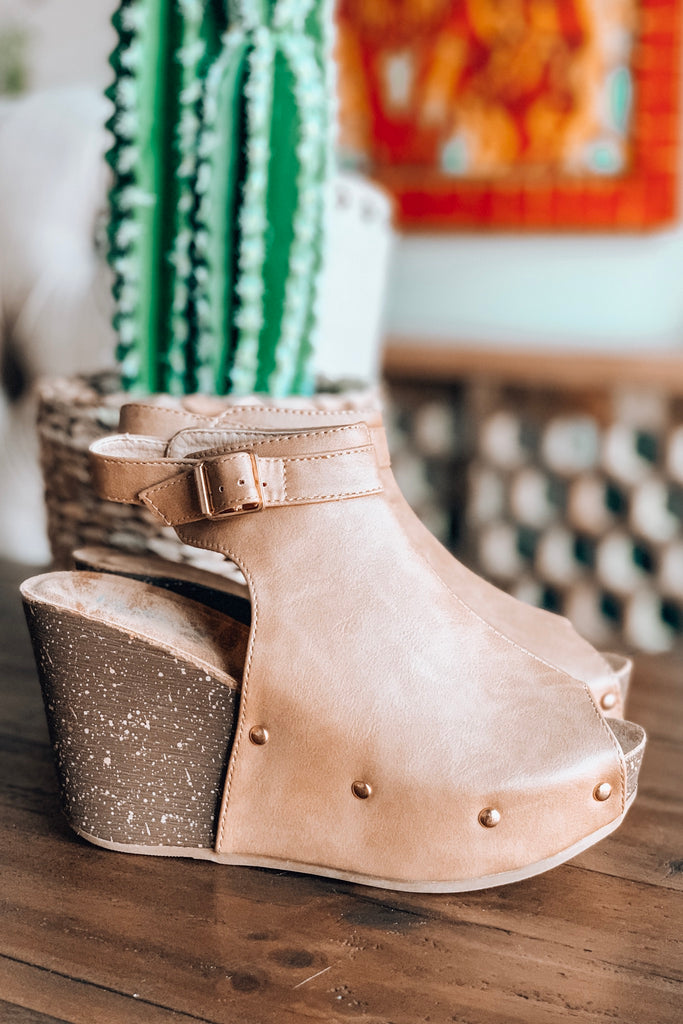 My Go To Wedge - Taupe - (SIZE 5.5 LEFT) - SALE