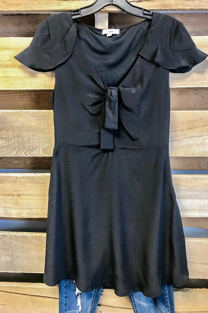 Bow Dress - Black - SALE