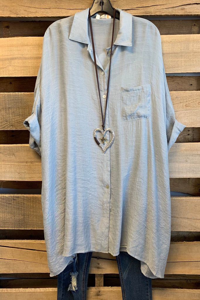 See You Again Tunic - Silver