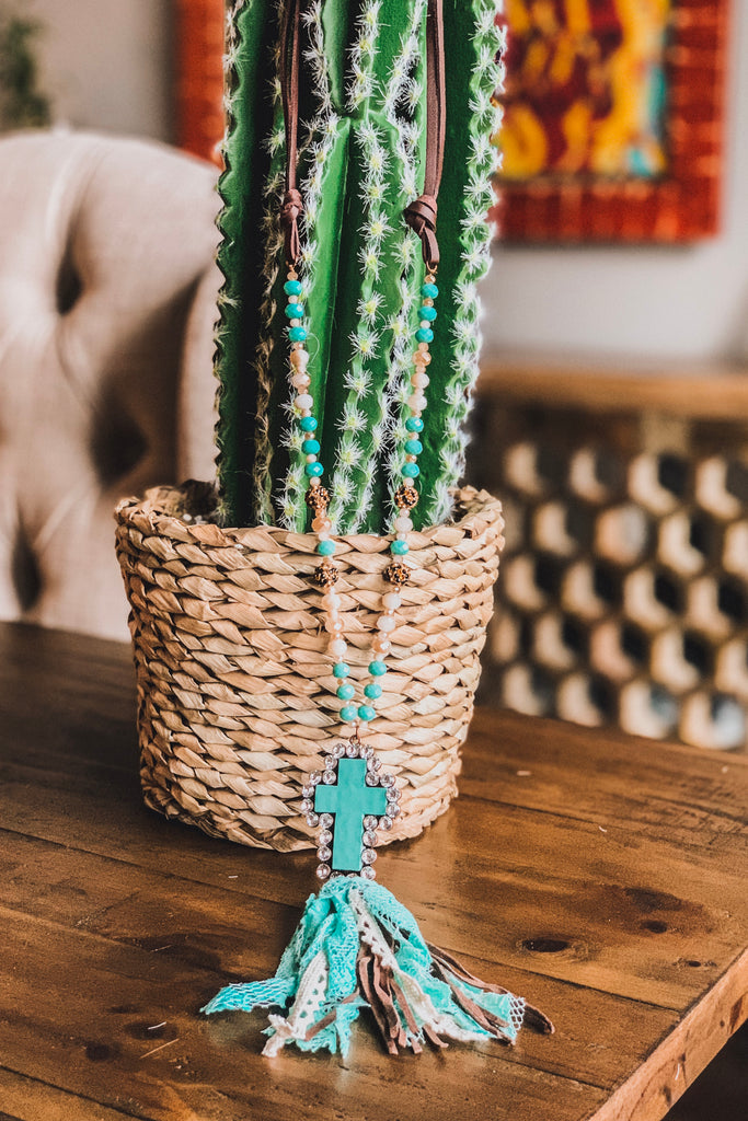 See Me Now Necklace  - Turquoise