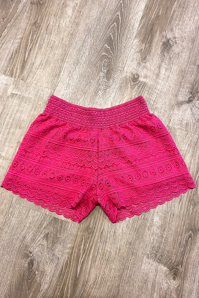 Sunshine For Days Shorts - Fuchsia  FINAL SALE