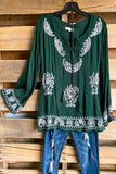 Gathered Giving Tunic - Green