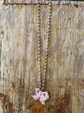 Beige Floral Texas Metal Necklace