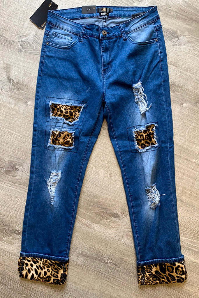 Cat Walk Denim - Leopard