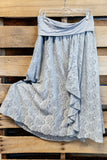 That Perfect Lace Skirt - Blue