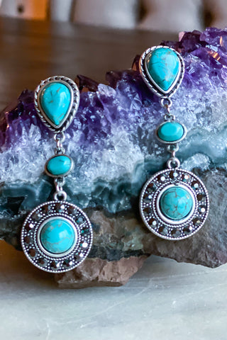 Boho Beauty Earrings  - Turquoise