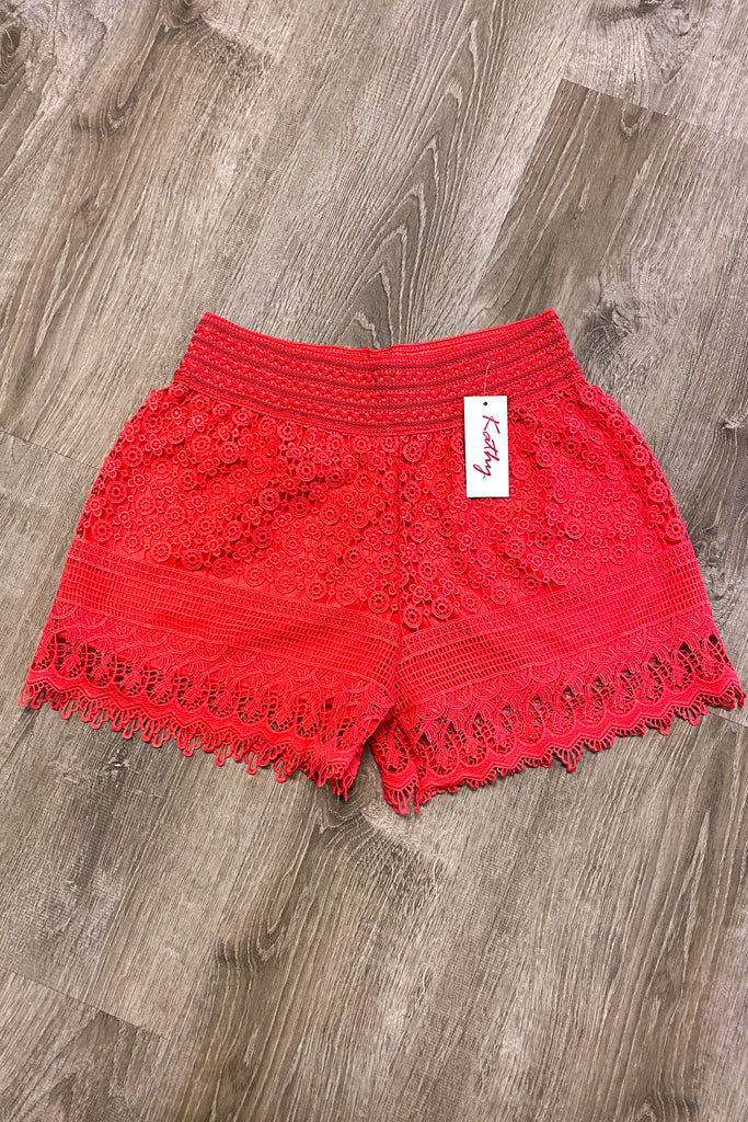 Sunshine For Days Shorts - Coral FINAL SALE