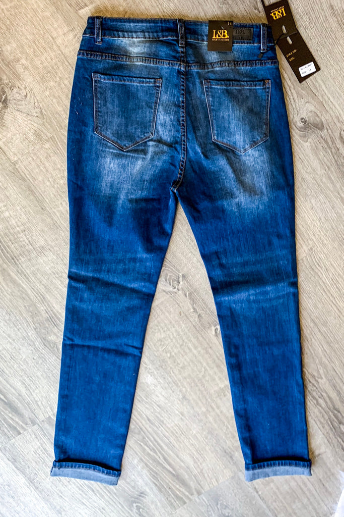 So Comfy So Cool Jeans - Medium Wash - Distressed Boyfriend