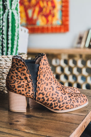 That Feline Walk Booties - Leopard