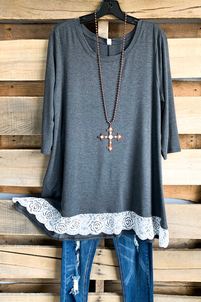 Seasons Change Tunic - Charcoal