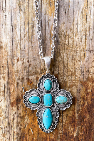 AUTHENTIC TURQUOISE STONES - ZYON NECKLACE - Turquoise