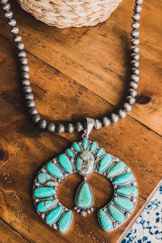 AUTHENTIC TURQUOISE STONE - PHOENIX RISING NECKLACE