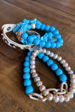 Rock and Prowl Bracelet Set - Turquoise/Leopard