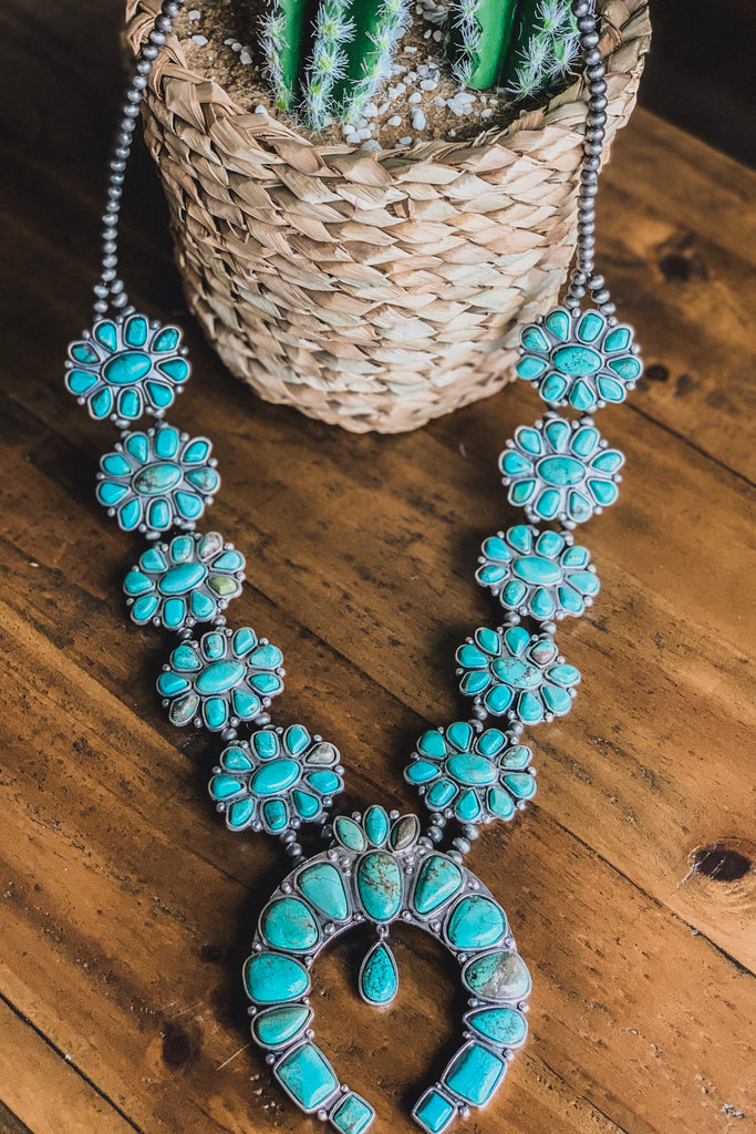 AUTHENTIC TURQUOISE STONE - Lupi Turquoise Necklace