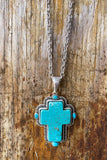 AUTHENTIC TURQUOISE STONE - Cross Reign Necklace