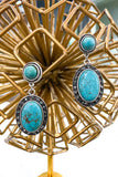 AUTHENTIC TURQUOISE STONE: Lona Earrings