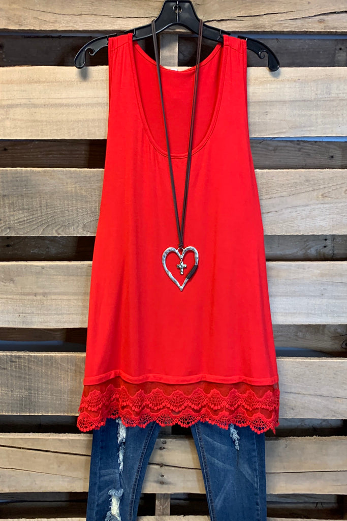 Extender: Slip on Tank/Tunic-Red