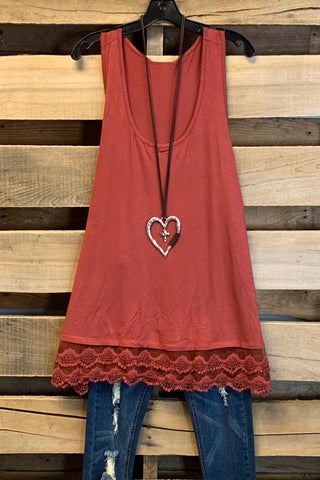 Extender: Slip on Tank/Tunic - Tomato Red