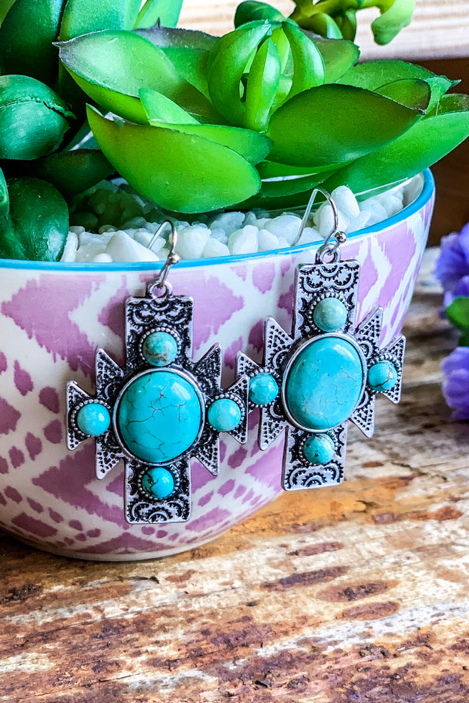 AHB EXCLUSIVE: Southwest Earrings- Turquoise